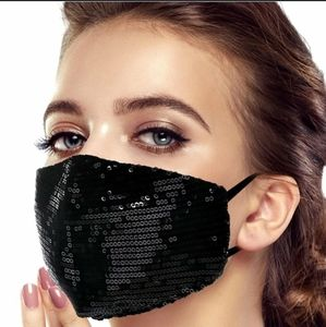 Accessories - Any 2 $30 Black Sparkle Sequin Face mask